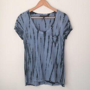 Rock & Republic Blue Tie Dye Tee Shirt Top